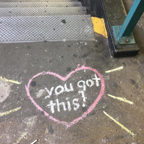 Seen on NYC Street: You got this!